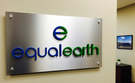 brushed aluminum plaque with dimensional letterss