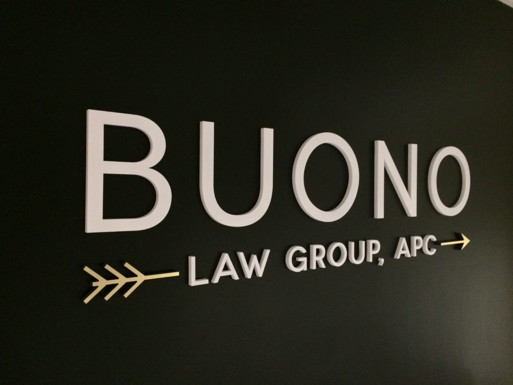 lobby sign for law firm